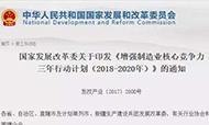 国家发展改革委关于印发《增强制造业核心竞争力三年行动计划(2018-2020年)》的通知
